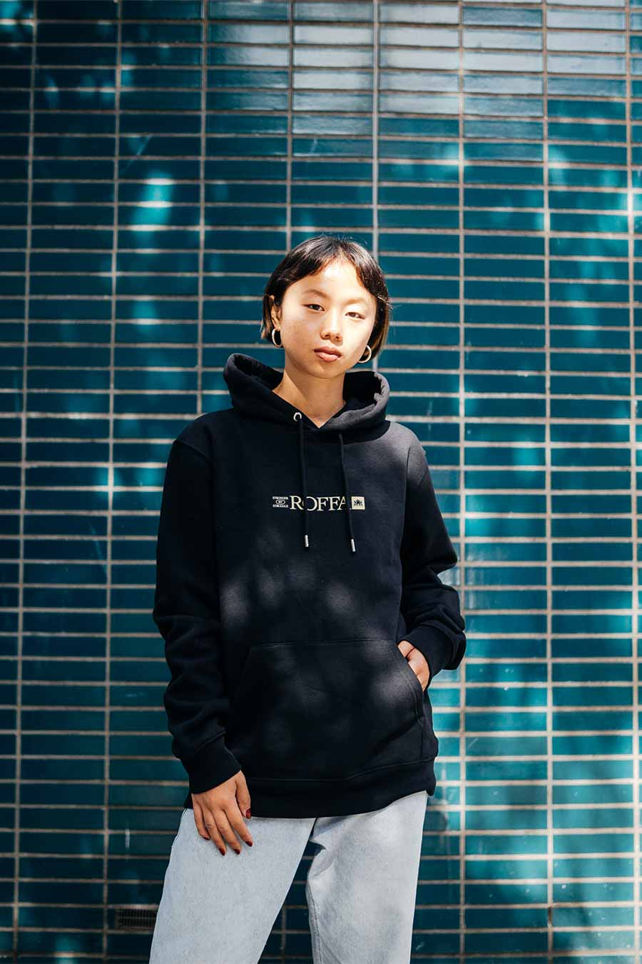 black sustainable hoodie from HEDONE