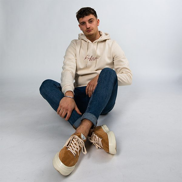 refuse clothing on platfrm sustainable hoodie